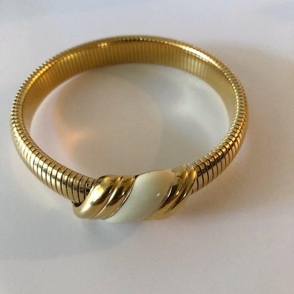 Monet Enamel Omega Bracelet